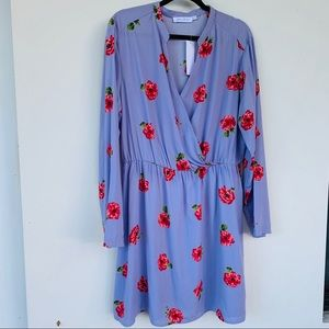 All In Favor Nordstrom Surplice Floral Dress XXL